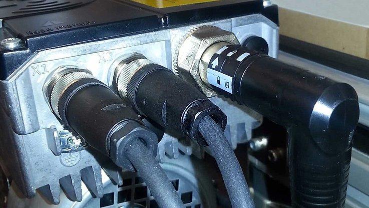 M15 Power - Rundsteckerverbinder zum Anschluss von Förderbändern