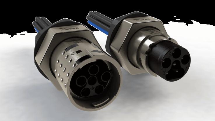 X-TEC Steckerverbinder - Rundsteckverbinder geschirmt